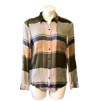 Lucky Brand Plaid Shirt | Small | Button Down | Long Sleeve Multicolor | Women's