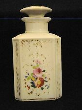 Old Paris Porcelain Hand Painted Empire Scent Bottle & Stopper Cover 19thc