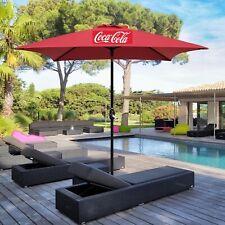NEW! Coca Cola Large 8' Canvas Commercial Patio Table Umbrella. NIB