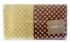 MISSONI HOME GIFT PACKAGING JODY HAND TOWELS SET COTTON  1 BROWN + 1 CHAMPAGNE