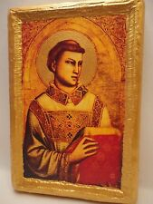 Saint Stephen Rare Christianity Roman Catholic Icon Art Portrait on Wood Plaque