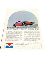 1970 Amante GT  - Vintage Advertisement Car Print Ad J408