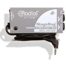 Radial Engineering StageBug SB-5 Compact Stereo DI Direct Box for Tablet Laptop