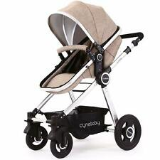 Cynebaby Baby Stroller 2 in 1 Infant Bassinet Pram Toddler Seat Single Carriage