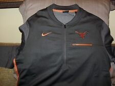 Texas Longhorns NIKE Dri-Fit Coaches Circuit 1/2 Zip Gray Golf Jacket Mens Large