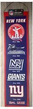 "New York Giants NFL Logo Evolution 8"" x 32"" Wool Heritage Hanging Wall Banner"