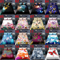 Single/Double/Queen/King Bed Quilt/Duvet/Doona Cover Set Pillowcase Butterfly