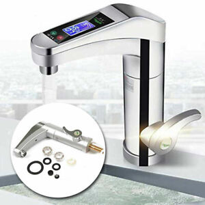 3500w Kitchen Electric Heating Tap Tankless Instant Hot Water Heater Faucet UK