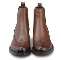 Top Womens Wing Tip oxford Brogue Ankle Boots pull on Chelsea Boots dress shoes