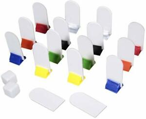 WYZwork Blank Board Game Pieces DIY Standing Die Cut Chit Player Card Marker