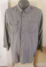 Vintage Orvis Black Glencheck Casual Shirt Men's Size XL Long Sleeve Button Up
