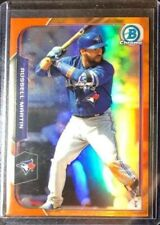 2015 Bowman Chrome Orange Refractors #48 Russell Martin /25 Blue Jays Dodgers