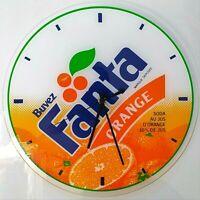 Horloge vintage  FANTA ORANGE  31 cm