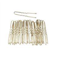 Thin Metal Wavy U Shape Hair Pins Bun Grips Gold Blonde & Brown Hair Accessories
