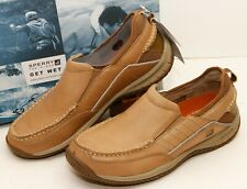 SPERRY Men's Cobo Slip On Leather Boat Shoe 9M NEW IN BOX...WOW!!!