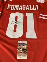 Troy Fumagalli Autographed/Signed Jersey JSA COA Wisconsin Badgers