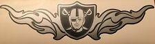 "Raiders Decal 3.15""x12"" Silver & Black Vinyl Decal Sticker**FREE SHIPPING**"