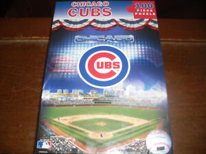 """MLB 100 piece puzzle, """"Chicago Cubs"""", new in bag"""