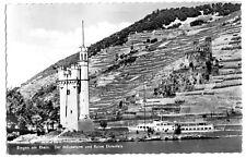 AK, Bingen am Rhein, Mäuseturm und Ruine Ehrenfels, 1960
