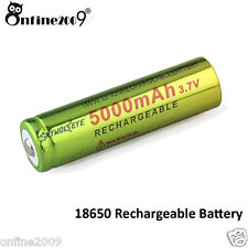 1x3.7V 18650 5000mAh Li-ion Rechargeable Battery For Flashlight lamp Torch
