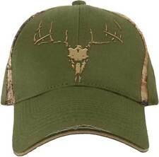 Realtree Buckwear Deer 3D Skull Hunting GREEN Distressed Adjustable Hat Cap