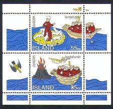 Iceland 1994 Europa/Saint Brendan/Boat/Volcano/Bird/Sheep/Religion 2v m/s n33035
