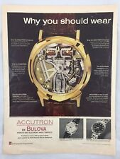 Bulova Accutron Spaceview Dial And Astronaut Model Watch Magazine Advertisement