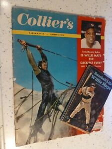 WILLIE MAYS Lot...1955 Collier's Magazine...1970 biography paperback...photos...