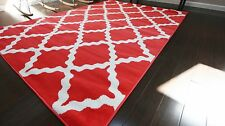Generations Red White Area Rug Rugs 5'2 x 7'3 8041