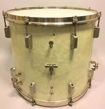 WFL Wm F Ludwig Late 30s Vtg Floor Tom 14x16 WMP Drum CLEAN w Rare Imperial Lugs