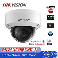 HIKVISION 8MP DS-2CD2185FWD-IS Audio Alarm IR  IP Security Camera H.265 SD Slot