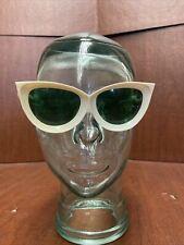 Vintage 1960's Oversized Retro Cateye Women's Sunglasses Italy Mod