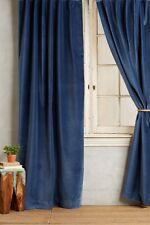 """NEW $600 ANTHROPOLOGIE Matte Velvet Curtain Set Of 2 Panels 96""""x50"""""""