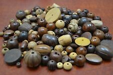 500+ PCS ASSORT ROUND TUBE WOOD BEADING BEADS 2 POUNDS #BD-758
