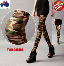Hot Women Camo Army Punk Sexy Camouflage Leggings Slim Skinny Stretchy Pants