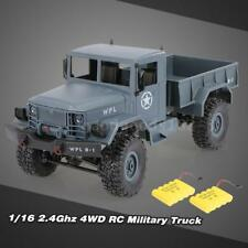 WPL B-1 1/16 2.4G 4WD Off-Road RC Military Truck Army Car Two Battery Gray G8E8