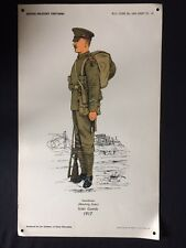 Original Wartime British Military Uniforms Poster The Institute Of Army Educatio