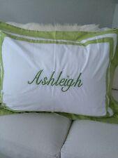 "Pottery Barn Kids Standard Sham Embroidered ""Ashleigh"""