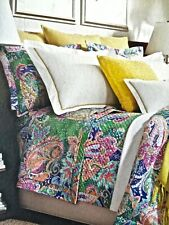 Nwt $400 Ralph Lauren 2pc Twin Duvet Cover w Sham Flying Point Pastel Paisley