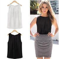 Fashion Womens Summer Chiffon Vest Top Sleeveless Shirt Blouse Casual Tank Tops
