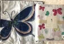 Pottery Barn Kids FULL Sheet set And Butterfly Decorative Pillow LUCY butterfly