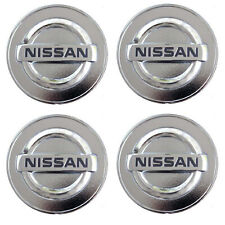 Set Of 4 Silver Chrome Logo Car Alloy Rim Wheel Center Hub Cap For 54mm 2 18