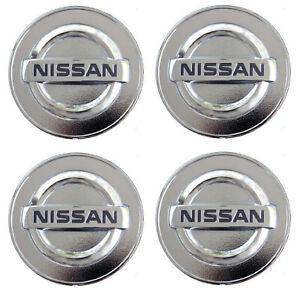 "Set of 4 Silver Chrome logo Car Alloy Rim Wheel Center Hub Cap for 58mm 2 1/4"""