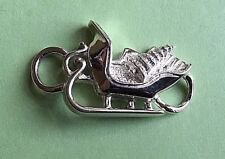 Christmas Sleigh Clasp Sterling Silver 925 New (Used on Convertible Bracelets)