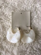 Free People White Resin Statement Earring