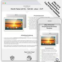 eBay Template MINIMALIST DROPSHIPING Auktion Vorlage/Design - Bootstrap - 2020