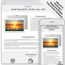 eBay Template MINIMALIST DROPSHIPING Auktion Vorlage/Design - Bootstrap - 2019