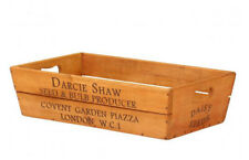 VINTAGE STYLE LARGE WOODEN WOOD FLOWER BOX DARCIE SHAW
