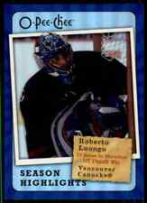 2007-08 O-Pee-Chee Season Highlights Roberto Luongo #SH16