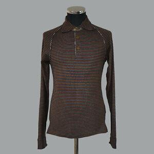 Vivienne Westwood Mens Vintage Long Sleeve Striped Polo